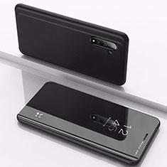 Samsung Galaxy Note 10用手帳型 レザーケース スタンド 鏡面 カバー サムスン ブラック