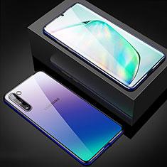 Samsung Galaxy Note 10用ケース 高級感 手触り良い アルミメタル 製の金属製 360度 フルカバーバンパー 鏡面 カバー M04 サムスン ネイビー