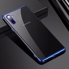 Samsung Galaxy Note 10用極薄ソフトケース シリコンケース 耐衝撃 全面保護 クリア透明 H03 サムスン ネイビー