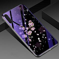 Samsung Galaxy Note 10 Plus 5G用ハイブリットバンパーケース プラスチック 鏡面 花 カバー K01 サムスン マルチカラー