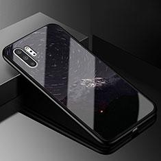 Samsung Galaxy Note 10 Plus 5G用ハイブリットバンパーケース プラスチック パターン 鏡面 カバー K01 サムスン ダークグレー