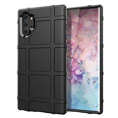 Samsung Galaxy Note 10 Plus 5G用360度 フルカバー極薄ソフトケース シリコンケース 耐衝撃 全面保護 バンパー C06 サムスン ブラック