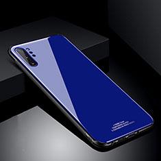 Samsung Galaxy Note 10 Plus 5G用ハイブリットバンパーケース プラスチック 鏡面 カバー T01 サムスン ネイビー