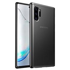 Samsung Galaxy Note 10 Plus 5G用ハイブリットバンパーケース プラスチック 兼シリコーン カバー R03 サムスン ブラック
