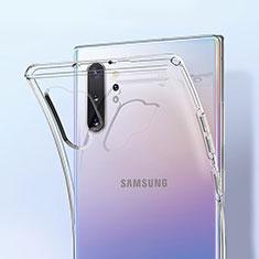 Samsung Galaxy Note 10 Plus 5G用極薄ソフトケース シリコンケース 耐衝撃 全面保護 クリア透明 K01 サムスン クリア