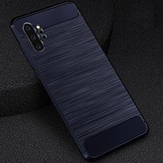 Samsung Galaxy Note 10 Plus 5G用シリコンケース ソフトタッチラバー ライン カバー C02 サムスン ネイビー