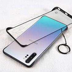 Samsung Galaxy Note 10 Plus 5G用ハードカバー クリスタル クリア透明 S01 サムスン ブラック