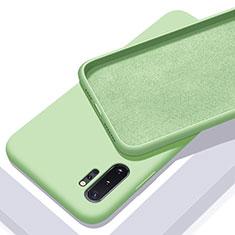 Samsung Galaxy Note 10 Plus 5G用360度 フルカバー極薄ソフトケース シリコンケース 耐衝撃 全面保護 バンパー C01 サムスン グリーン