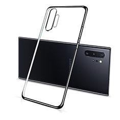 Samsung Galaxy Note 10 Plus 5G用極薄ソフトケース シリコンケース 耐衝撃 全面保護 クリア透明 S01 サムスン ブラック