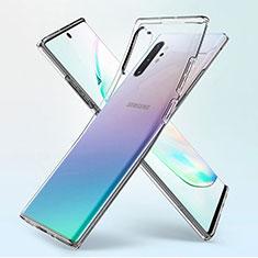Samsung Galaxy Note 10 Plus 5G用極薄ソフトケース シリコンケース 耐衝撃 全面保護 クリア透明 K02 サムスン クリア