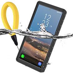 Samsung Galaxy Note 10 Plus 5G用完全防水ケース ハイブリットバンパーカバー 高級感 手触り良い 360度 W01 サムスン ブラック
