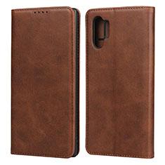 Samsung Galaxy Note 10 Plus 5G用手帳型 レザーケース スタンド カバー サムスン ブラウン