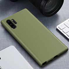 Samsung Galaxy Note 10 Plus 5G用360度 フルカバー極薄ソフトケース シリコンケース 耐衝撃 全面保護 バンパー サムスン グリーン
