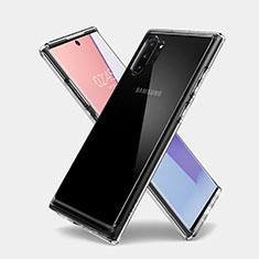 Samsung Galaxy Note 10 Plus 5G用極薄ソフトケース シリコンケース 耐衝撃 全面保護 クリア透明 T03 サムスン クリア