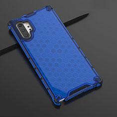 Samsung Galaxy Note 10 Plus 5G用極薄ソフトケース シリコンケース 耐衝撃 全面保護 クリア透明 H03 サムスン ネイビー
