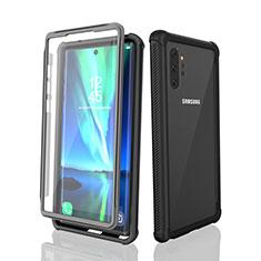 Samsung Galaxy Note 10 Plus 5G用完全防水ケース ハイブリットバンパーカバー 高級感 手触り良い 360度 サムスン ブラック