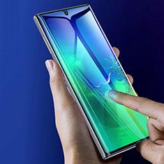 Samsung Galaxy Note 10 Plus 5G用強化ガラス フル液晶保護フィルム F05 サムスン ブラック