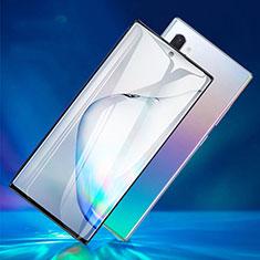 Samsung Galaxy Note 10 Plus 5G用強化ガラス フル液晶保護フィルム F06 サムスン ブラック