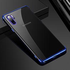 Samsung Galaxy Note 10 Plus用極薄ソフトケース シリコンケース 耐衝撃 全面保護 クリア透明 H02 サムスン ネイビー