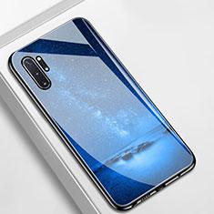 Samsung Galaxy Note 10 Plus用ハイブリットバンパーケース プラスチック 星空 鏡面 カバー サムスン ネイビー