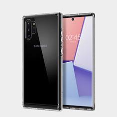 Samsung Galaxy Note 10 Plus用極薄ソフトケース シリコンケース 耐衝撃 全面保護 クリア透明 T02 サムスン クリア