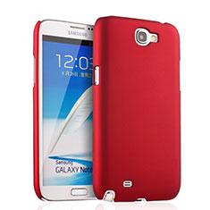 Samsung Galaxy Note 2 N7100 N7105用ハードケース プラスチック 質感もマット サムスン レッド