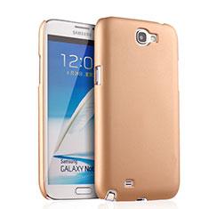 Samsung Galaxy Note 2 N7100 N7105用ハードケース プラスチック 質感もマット サムスン ゴールド