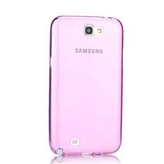 Samsung Galaxy Note 2 N7100 N7105用極薄ソフトケース シリコンケース 耐衝撃 全面保護 クリア透明 サムスン ピンク