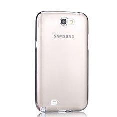 Samsung Galaxy Note 2 N7100 N7105用極薄ソフトケース シリコンケース 耐衝撃 全面保護 クリア透明 サムスン グレー