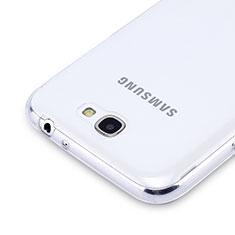 Samsung Galaxy Note 2 N7100 N7105用極薄ソフトケース シリコンケース 耐衝撃 全面保護 クリア透明 サムスン クリア