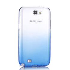 Samsung Galaxy Note 2 N7100 N7105用極薄ソフトケース グラデーション 勾配色 クリア透明 サムスン ネイビー