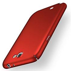 Samsung Galaxy Note 2 N7100 N7105用ハードケース プラスチック 質感もマット M01 サムスン レッド