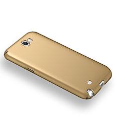 Samsung Galaxy Note 2 N7100 N7105用ハードケース プラスチック 質感もマット M03 サムスン ゴールド
