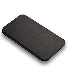Samsung Galaxy Note 2 N7100 N7105用手帳型 レザーケース スタンド L01 サムスン ブラック