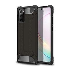 Samsung Galaxy Note 20 5G用ハイブリットバンパーケース プラスチック 兼シリコーン カバー サムスン ブラック