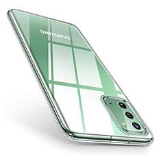 Samsung Galaxy Note 20 5G用極薄ソフトケース シリコンケース 耐衝撃 全面保護 クリア透明 T02 サムスン クリア
