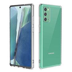 Samsung Galaxy Note 20 5G用極薄ソフトケース シリコンケース 耐衝撃 全面保護 クリア透明 カバー サムスン クリア