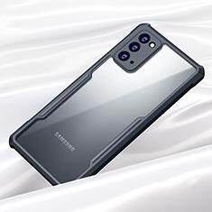 Samsung Galaxy Note 20 5G用ハイブリットバンパーケース クリア透明 プラスチック 鏡面 カバー M01 サムスン ブラック