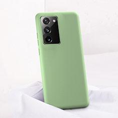 Samsung Galaxy Note 20 5G用360度 フルカバー極薄ソフトケース シリコンケース 耐衝撃 全面保護 バンパー C01 サムスン グリーン