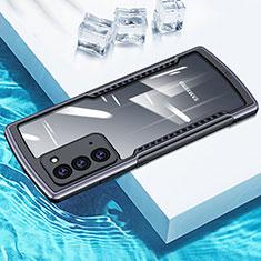 Samsung Galaxy Note 20 5G用ハイブリットバンパーケース クリア透明 プラスチック 鏡面 カバー H01 サムスン グレー