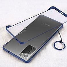 Samsung Galaxy Note 20 5G用ハードカバー クリスタル クリア透明 S01 サムスン ネイビー