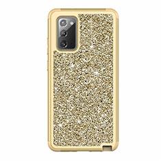 Samsung Galaxy Note 20 5G用ハイブリットバンパーケース ブリンブリン カバー 前面と背面 360度 フル サムスン ゴールド
