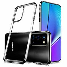 Samsung Galaxy Note 20 5G用極薄ソフトケース シリコンケース 耐衝撃 全面保護 クリア透明 N02 サムスン ブラック