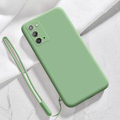Samsung Galaxy Note 20 5G用360度 フルカバー極薄ソフトケース シリコンケース 耐衝撃 全面保護 バンパー N03 サムスン ライトグリーン