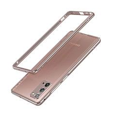 Samsung Galaxy Note 20 5G用ケース 高級感 手触り良い アルミメタル 製の金属製 バンパー カバー N03 サムスン ブロンズ