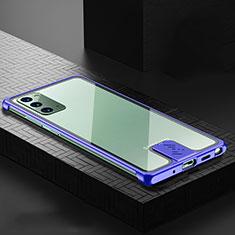 Samsung Galaxy Note 20 5G用ケース 高級感 手触り良い アルミメタル 製の金属製 カバー N03 サムスン ネイビー