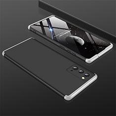 Samsung Galaxy Note 20 5G用ハードケース プラスチック 質感もマット 前面と背面 360度 フルカバー M01 サムスン シルバー・ブラック