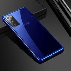Samsung Galaxy Note 20 5G用極薄ソフトケース シリコンケース 耐衝撃 全面保護 クリア透明 N03 サムスン ネイビー