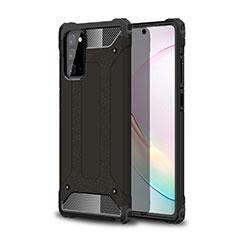 Samsung Galaxy Note 20 Plus 5G用ハイブリットバンパーケース プラスチック 兼シリコーン カバー サムスン ブラック