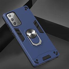 Samsung Galaxy Note 20 Plus 5G用ハイブリットバンパーケース プラスチック アンド指輪 マグネット式 サムスン ネイビー